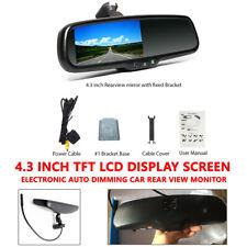 """Ven Car 4.3"""" Dimming TFT LCD Rear View Mirror Monitor w/Rear Camera Night Vision"""