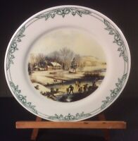 Currier & Ives Collectors Plate Skating On The Pond Museum Of The City Of NY