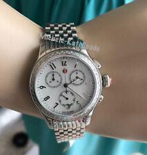 NWT Michele  'Jetway' Chronograph Diamond DATE MOP Watch MWW23A000001($1795+tax)