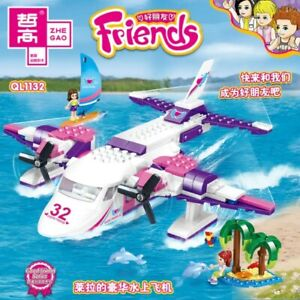 Good Friends Series Airplane Building Blocks Pink 272PCS Ages 6+ Perfect Gift