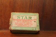 Antique Star Razor Shaving Blades Box & 4 Blades fits Gem Style