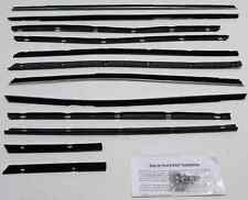 66-67  LINCOLN CONTINENTAL 4 DOOR HARDTOP WINDOW WEATHERSTRIP  KIT 12 PIECES
