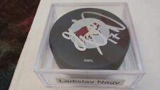 Ladislav Nagy (Phoenix Coyotes) Autographed NHL Logo Hockey Puck