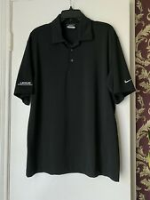 NIKE Golf Tour Performance - Men's Size M - Black Lexus Dri-Fit Polo Shirt