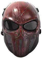 Coxeer Airsoft Mask Scary Skull Outdoor Full Face with Mesh Eye Protection