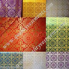 "Liturgical Vestments Brocade Fabric Nonmetallic ""Zlatoust"" width is 59'' (150cm)"