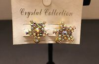 New Retro Vintage Gold Tone Iridescent Star Pierced Clip-on Earrings
