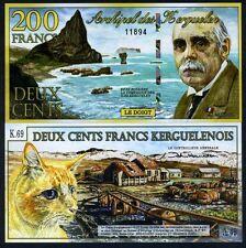 Kerguelen Island 200 Francos 2-1-2012, Polymer UNC > Nuevo