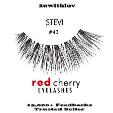 10 X RED CHERRY 100% HUMAN HAIR BLACK FALSE EYE LASHES #43 BNIB