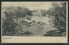 OH Dayton ALBERTYPE c.1904 SOLDIERS HOME FLORAL GARDEN & LAKES by Keyes No. 12