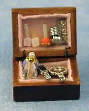 Dolls House Miniature 1/12th Scale Wooden Vanity Box