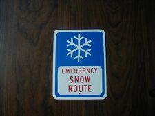 METAL  MINI Snow Route sign   MINIATURE traffic sign