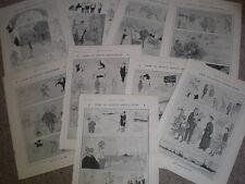 9  Will Owen topics of the week 1907 old cartoon prints