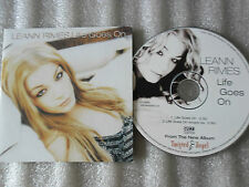 CD-LEANN RIMES-LIFE GOES ON-ALMIGHTY MIX-DESMOND CHILD-(CD SINGLE)-2002-2 TRACK