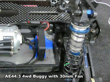Low Profile Motor Cooler Fan Mount Blue for 25mm 30mm 40mm 1/10 On road & Buggy