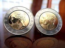 Italian 500 Lire Coin Cufflinks