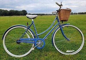 Raleigh Chiltern Ladies Dutch Style Bike. 20 in frame + 26 in wheels.  Pale Blue