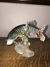 Vintage The Danbury Mint Great Northern Pike Sculpture By George Kruth