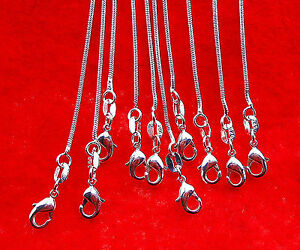 10PCS 22 inch Wholesale jewelry 925 Sterling Silver Plated Snake Chain Necklaces