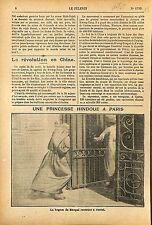 Kaikhusrau Jahan Begum of Bhopal Viste Paris Hôtel 1911 ILLUSTRATION