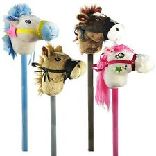 (LOT OF 12X) Electronic Stick Horse Pony Ride On Wood Toy W/ Moving Head & Sound
