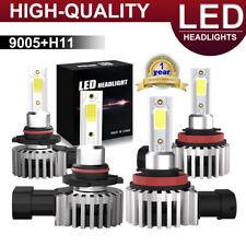 9005 H11 LED Headlight Bulbs For 2008-2019 Chevrolet Silverado 1500 2500 3500 HD