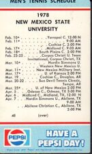 1978 New Mexico State Tennis Schedule 101917jh