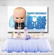 Boss Baby Happy Birthday Backdrop Background Happy Birthday