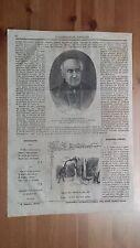 1873 Illustrazione Popolare: Ritratto Raffaele Lambruschini Genova Pedagogista