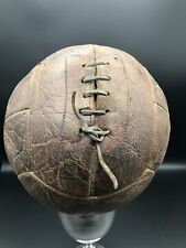 Vintage Old Leather 12 Panel Football With Leather Laces & Bladder Size 5