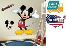 Home Kids Bedroom Decor Toddler Mickey Mouse Peel Stick Giant Wall Decal Sticker
