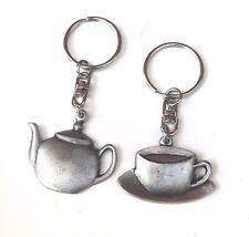 Théière et tasse à thé ENSEMBLE-CADEAU fait à la main avec étain anglais