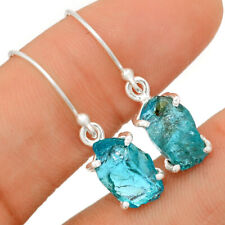 Neon Blue Apatite 925 Sterling Silver Earring Jewelry BE19121