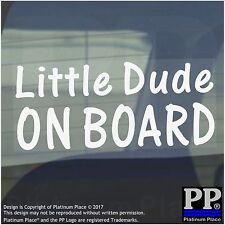 Little Dude On Board Sticker-Car,Van,Window Warning Sign-Baby,Child,Kid,Gift
