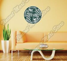"Warning Danger Sound Bass Speakers Wall Sticker Room Interior Decor 22""X22"""