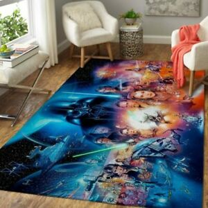 All Star Wars Characters Area Rug,Premium Rectangle Rug