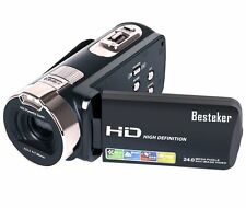 Besteker Full HD1080P 24MP Digital Video Camcorder Camera DV 2.7'' LCD 16X ZOOM
