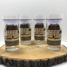 New listing Set (4) Glasses Country Village Drinking Glasses
