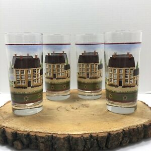 4X Glasses Country Village Drinking Glass