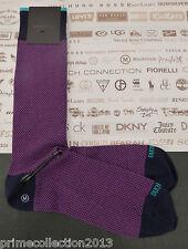 Duchamp Men's Raised Sqaure Sock Medium Cotton Crew Socks 1 Pair
