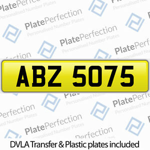 ABZ 5075 AB ABBY ABBIE CHERISHED PRIVATE NUMBER PLATE DVLA REGISTRATION