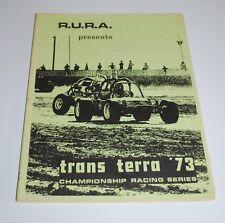 1973 RURA Trans Terra Dirt Track & Off Road Racing Championship Series Program