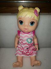 Baby Alive Yummy Treats Doll Blond Hair Kitten Pink Shirt Hearts 2012