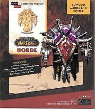 World of Warcraft Horde Crest 3D Laser Cut Wood Model Kit + Poster NEW UNUSED