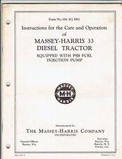 Massey Harris 33 Diesel Tractor Operator's Manual