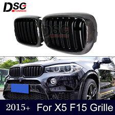 Carbon Fiber Grill For BMW X5 F15 Matte Black Dual Slat Front Hood Grille Grills