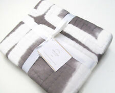 Pottery Barn Gray Multi Colors Indio Shibori Tie Dye Euro Pillow Cover Sham New