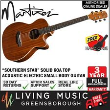 NEW Martinez Solid Koa Top Acoustic-Electric Small Body Guitar (Natural Gloss)