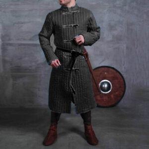 Medieval Gambeson Viking Men Jacket Coat Warrior Armor Tops Halloween Costume