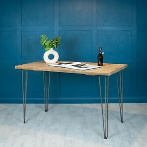 Desk Rustic Reclaimed Scaffold Wood [With Hairpin Legs] Office - Large